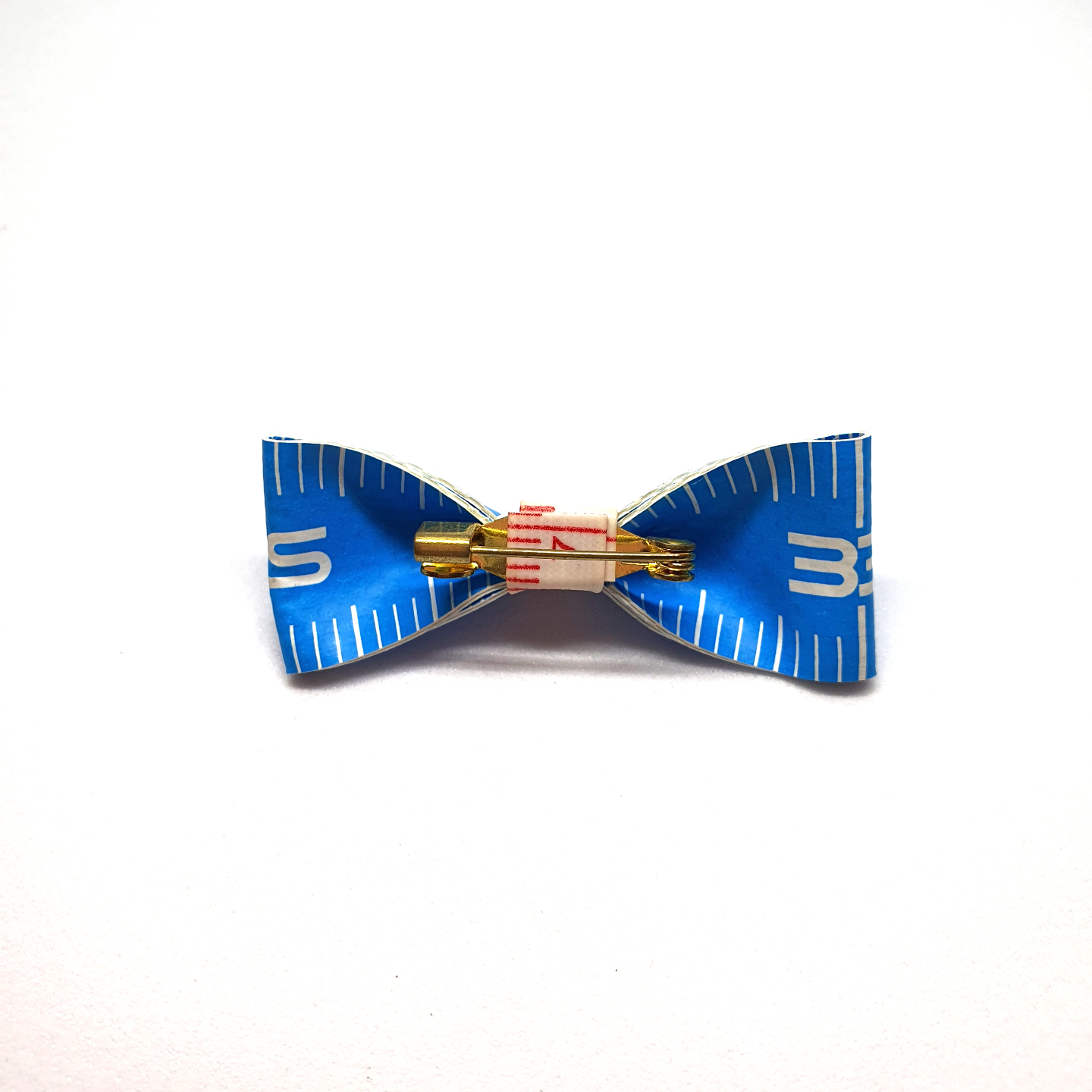 Handmade Accessories Measuring Tape Ribbon Brooches Blue 2 by Doe & Audrey