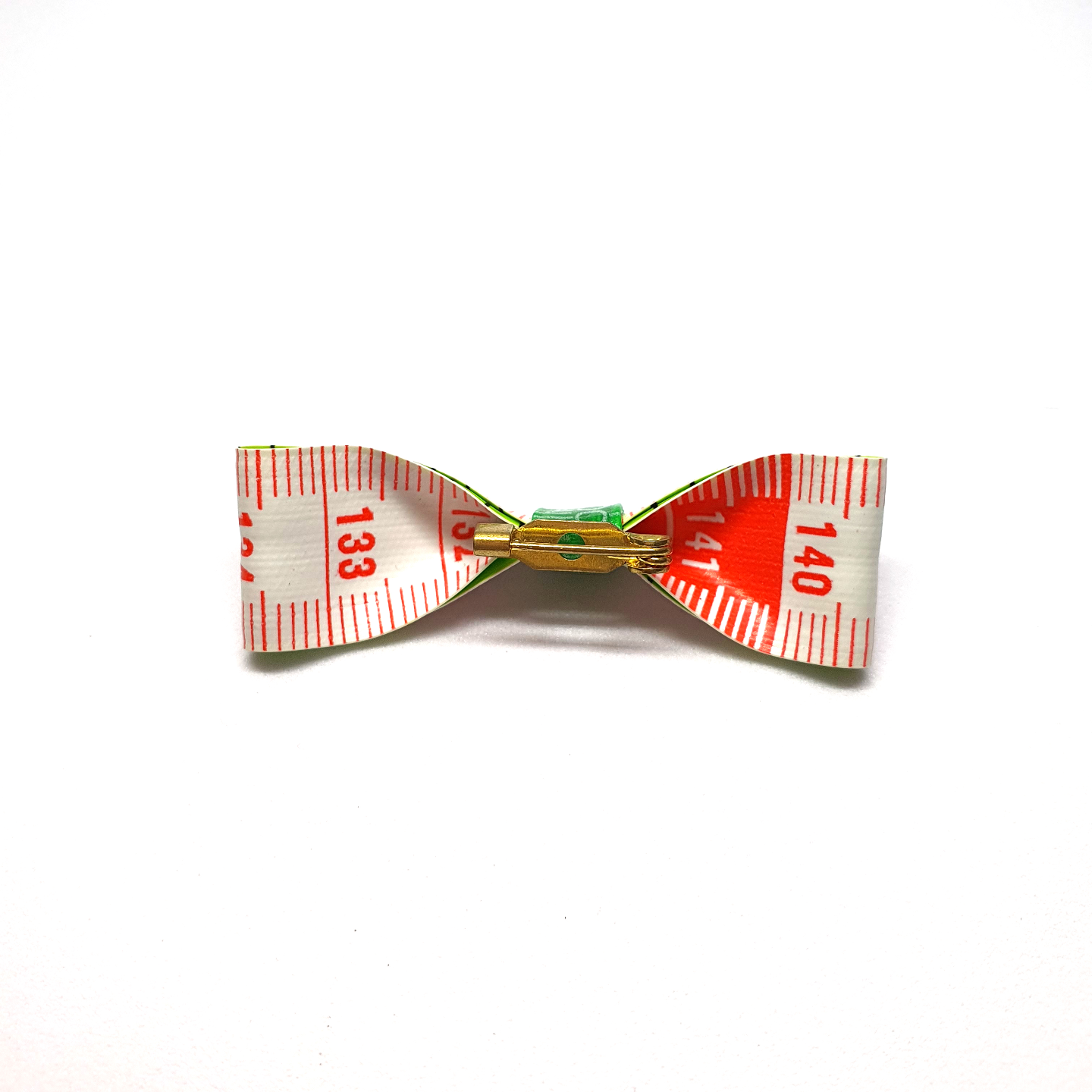 Handmade Accessories Measuring Tape Ribbon Brooches Orange 2 by Doe & Audrey