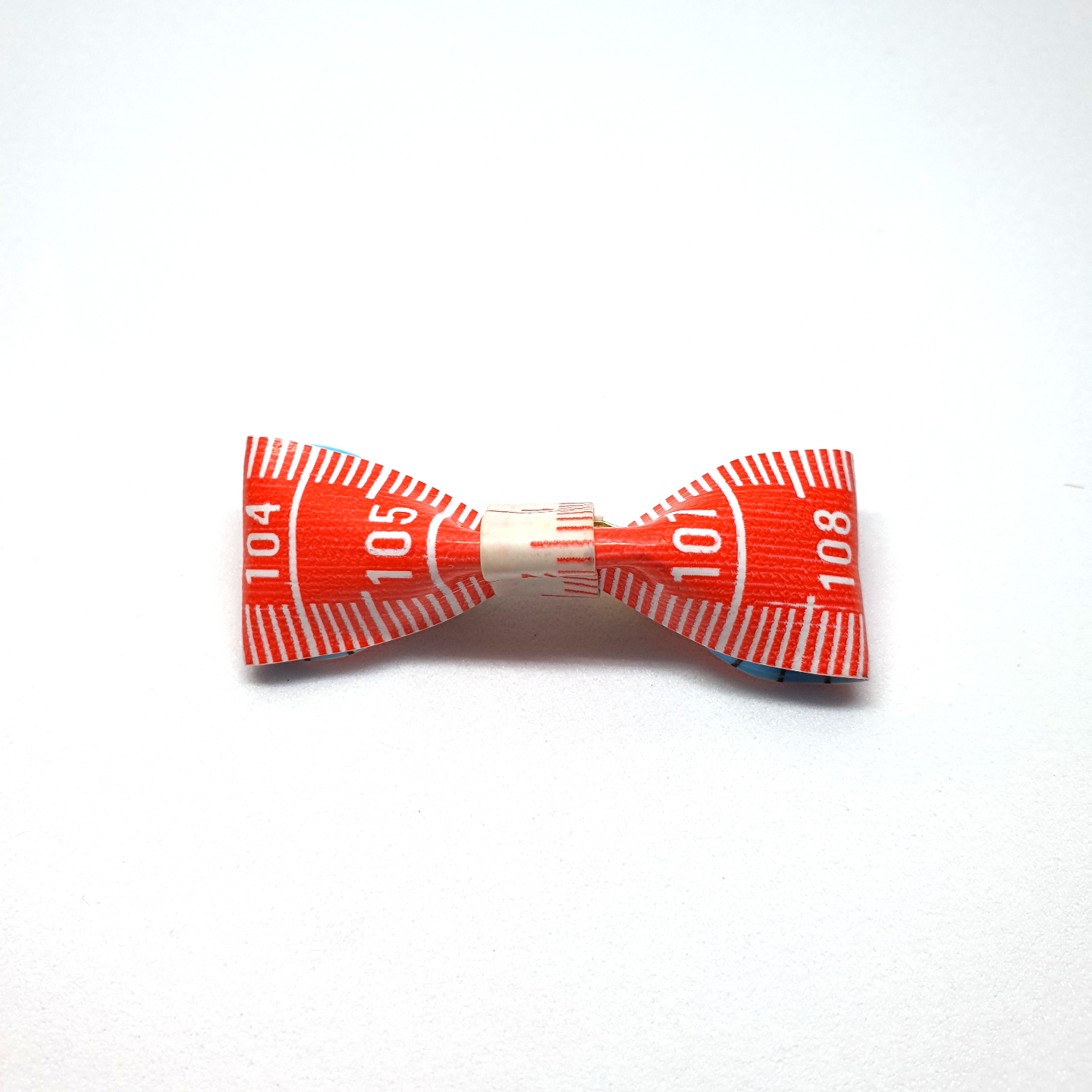 Handmade Accessories Measuring Tape Ribbon Brooches Orange 3 by Doe & Audrey