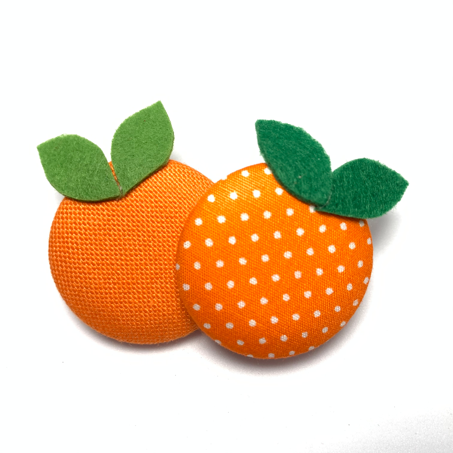 Handmade Brooch: Orange Brooch by Doe & Audrey