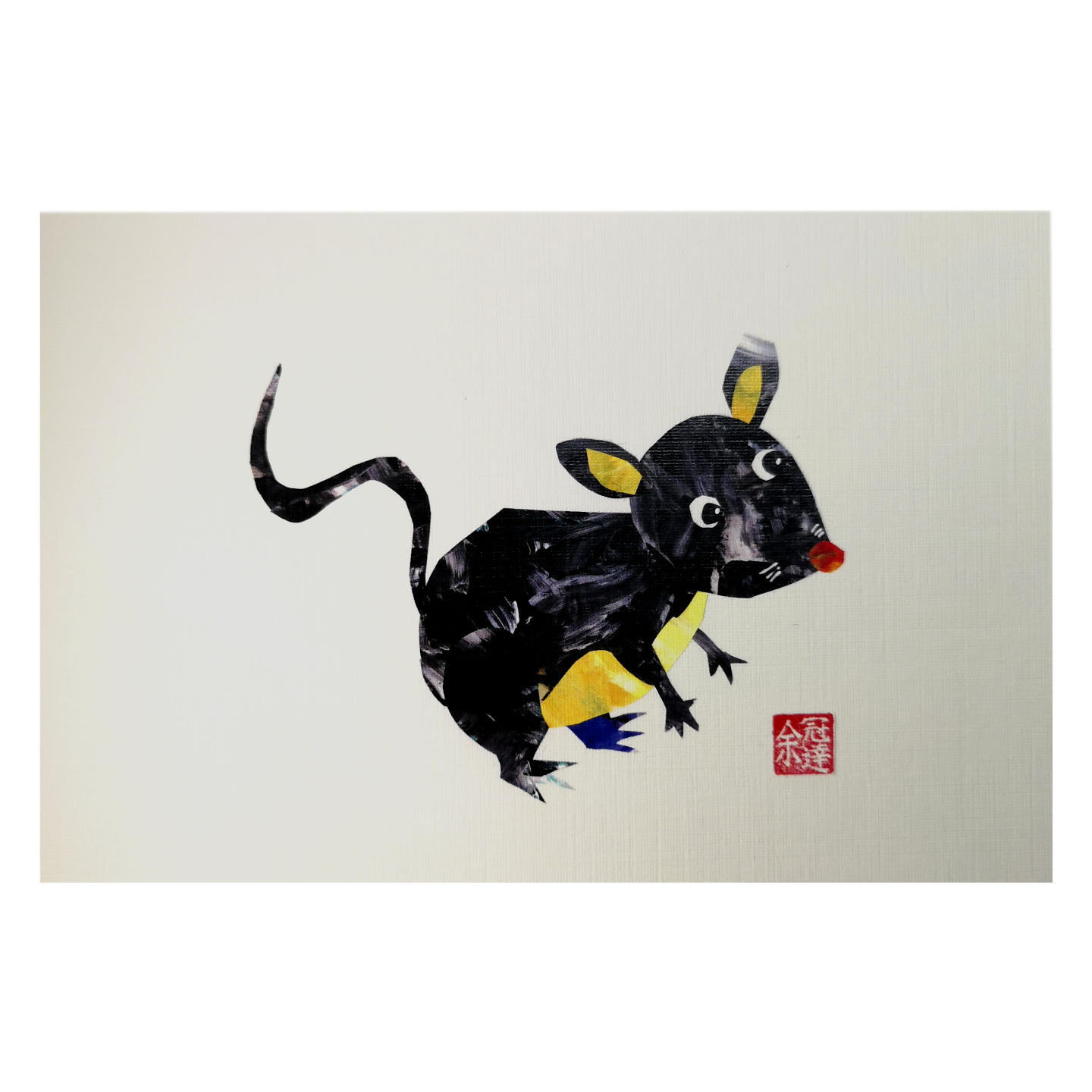 Zodiac Postcard Rat by Patrick Yee