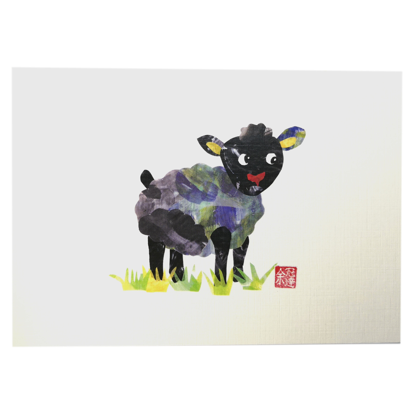Zodiac Postcard Sheep by Patrick Yee