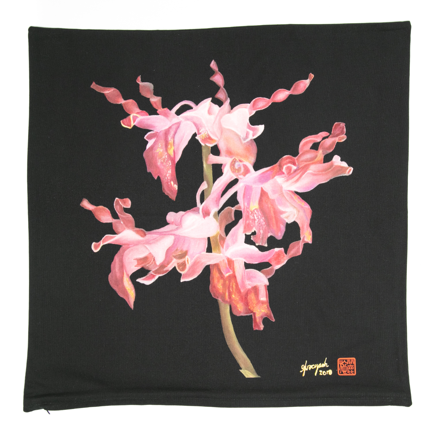 SOS 5 Orchids Cushion Cover - Dendrobium Margaret Thatcher
