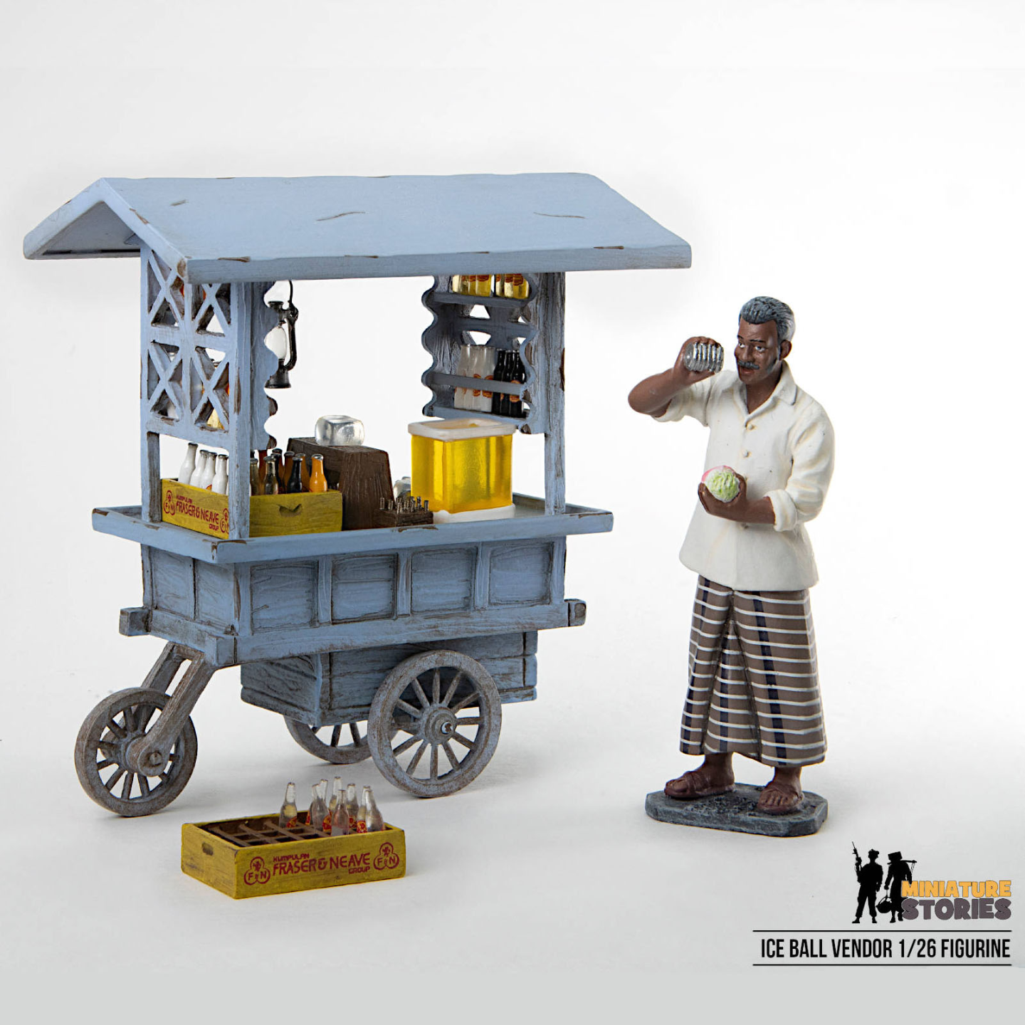 Ice Ball Seller and Stall Figurine