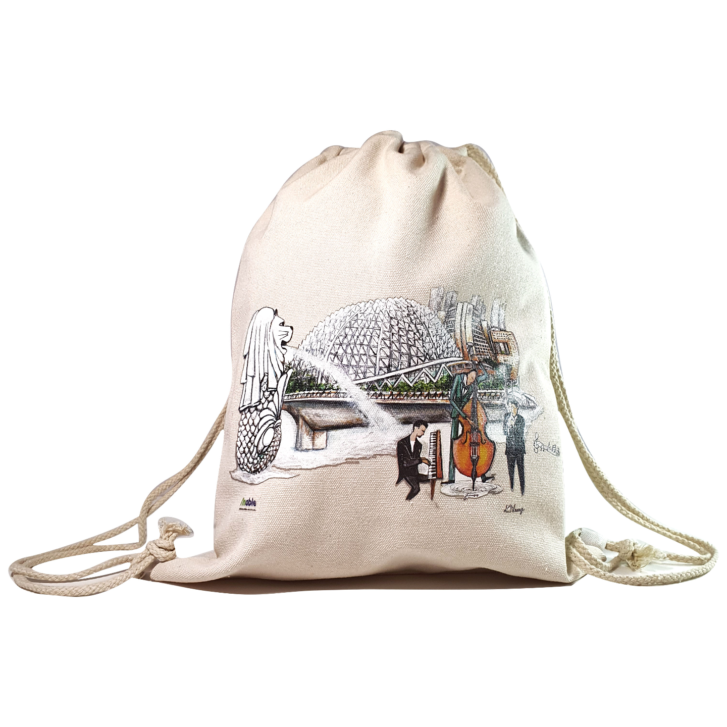 Dual-use Drawstring Bag- Esplanade Merlion