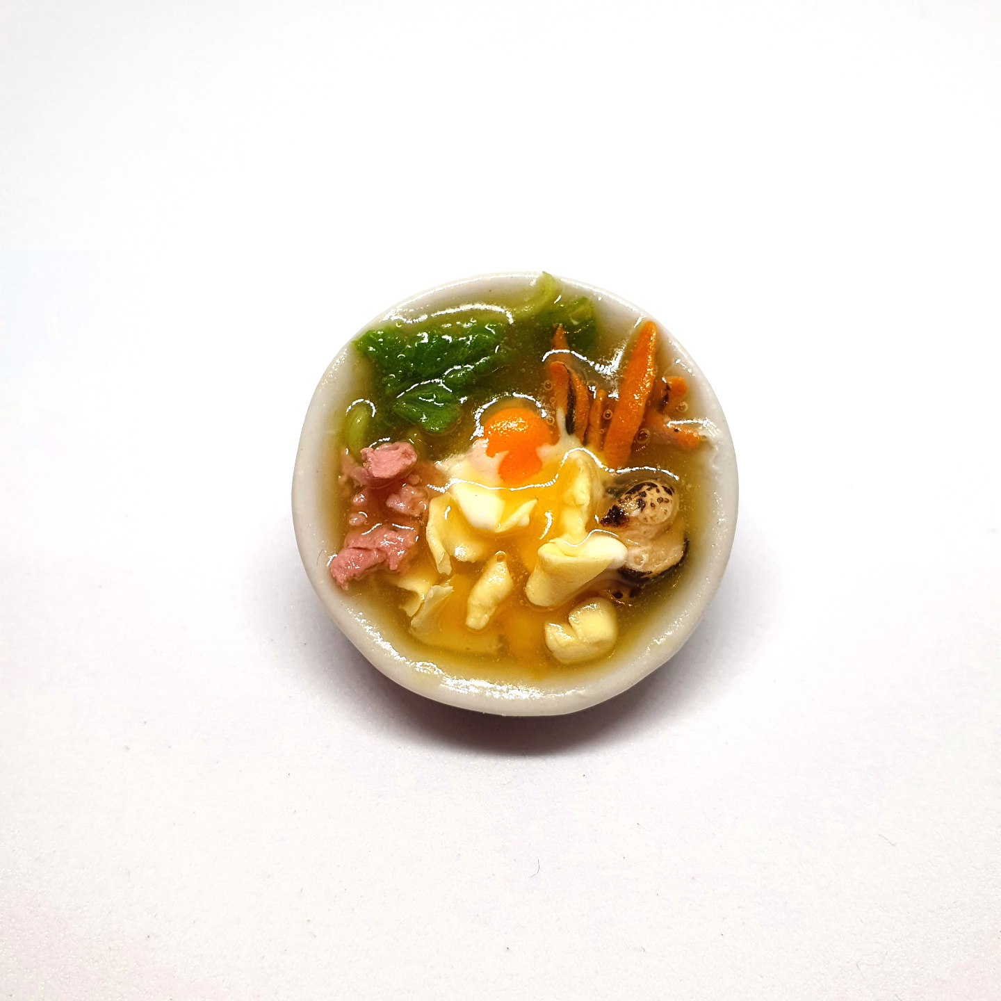 Handmade Miniature: Mee Hoon Kueh by Madam Ang Miniature World