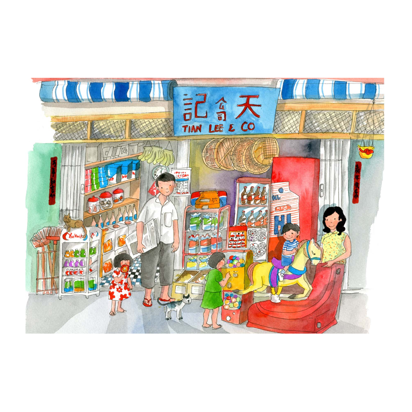 Heritage Postcard Provision Shop by Patrick Yee