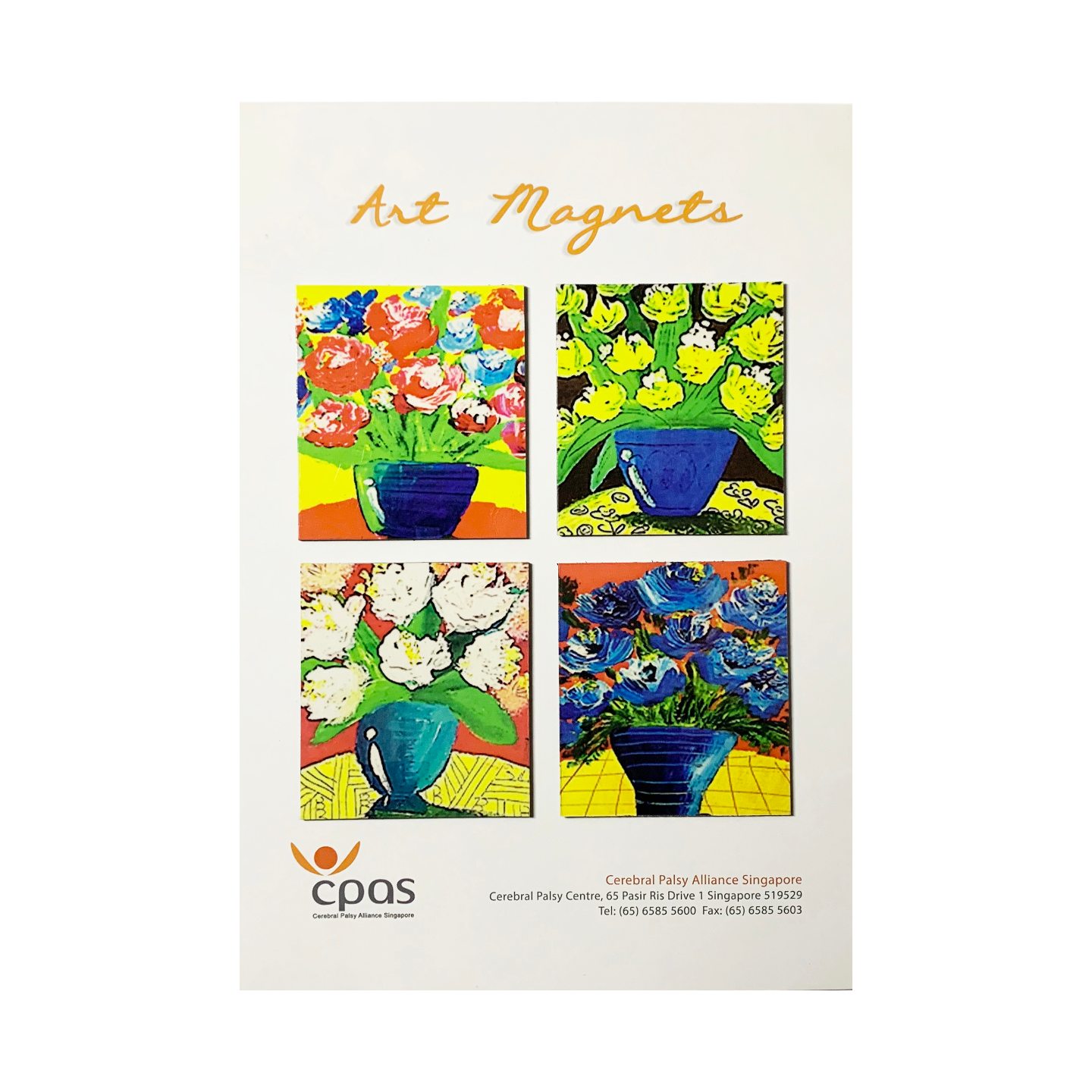 Art Magnet Set 2 by CPAS GROW Artists Set of 4
