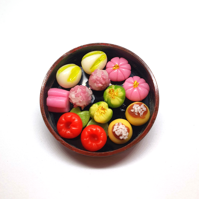 Handmade Miniature: Japanese Mochi Set by Madam Ang Miniature World