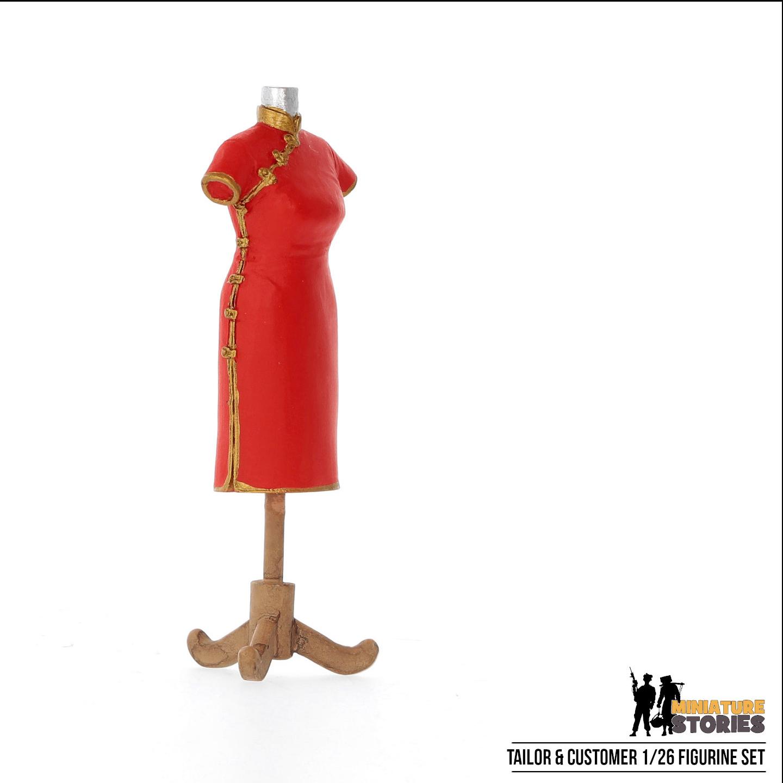 Tailor and Customer Figurine Set