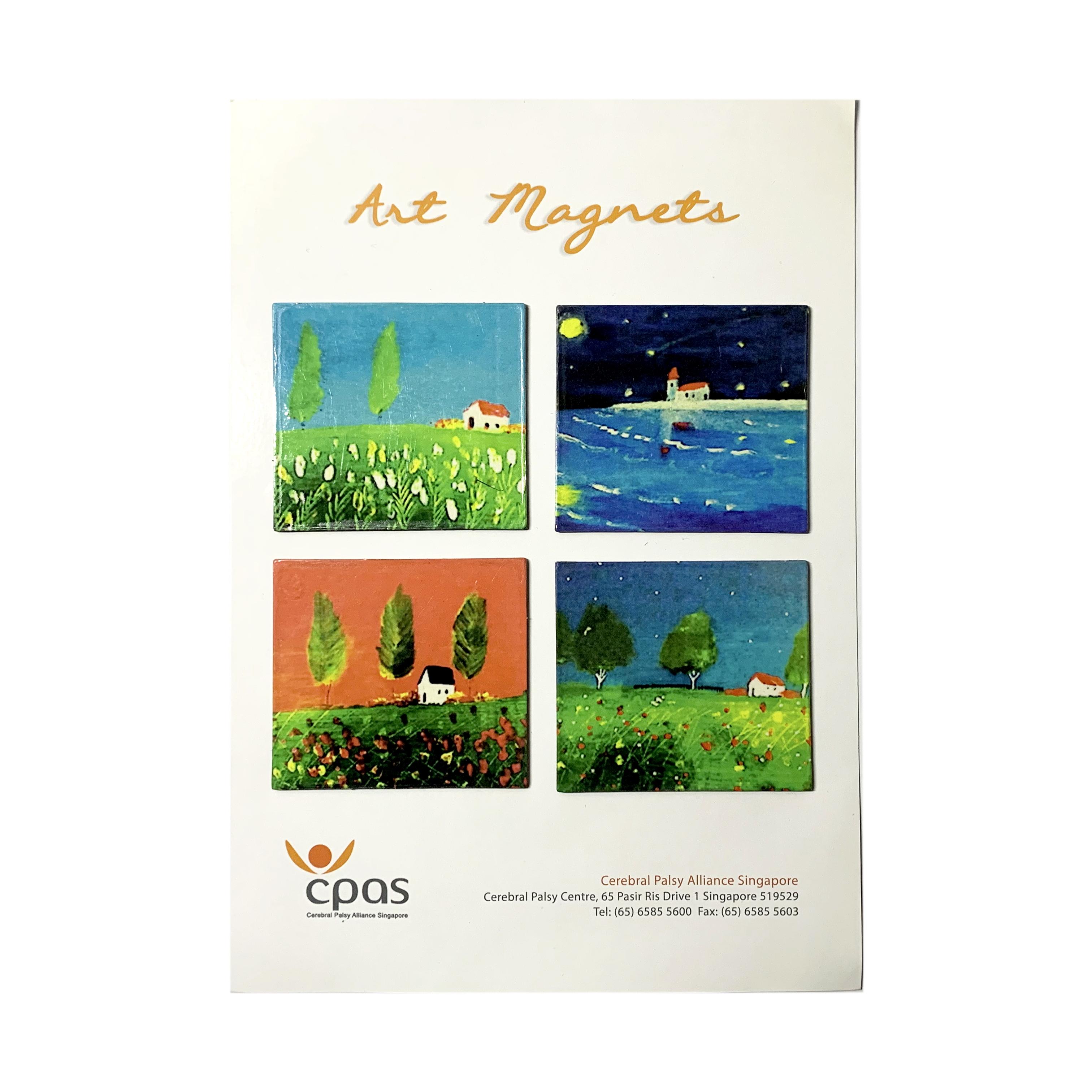 Art Magnet Set 1 by CPAS GROW Artists Set of 4