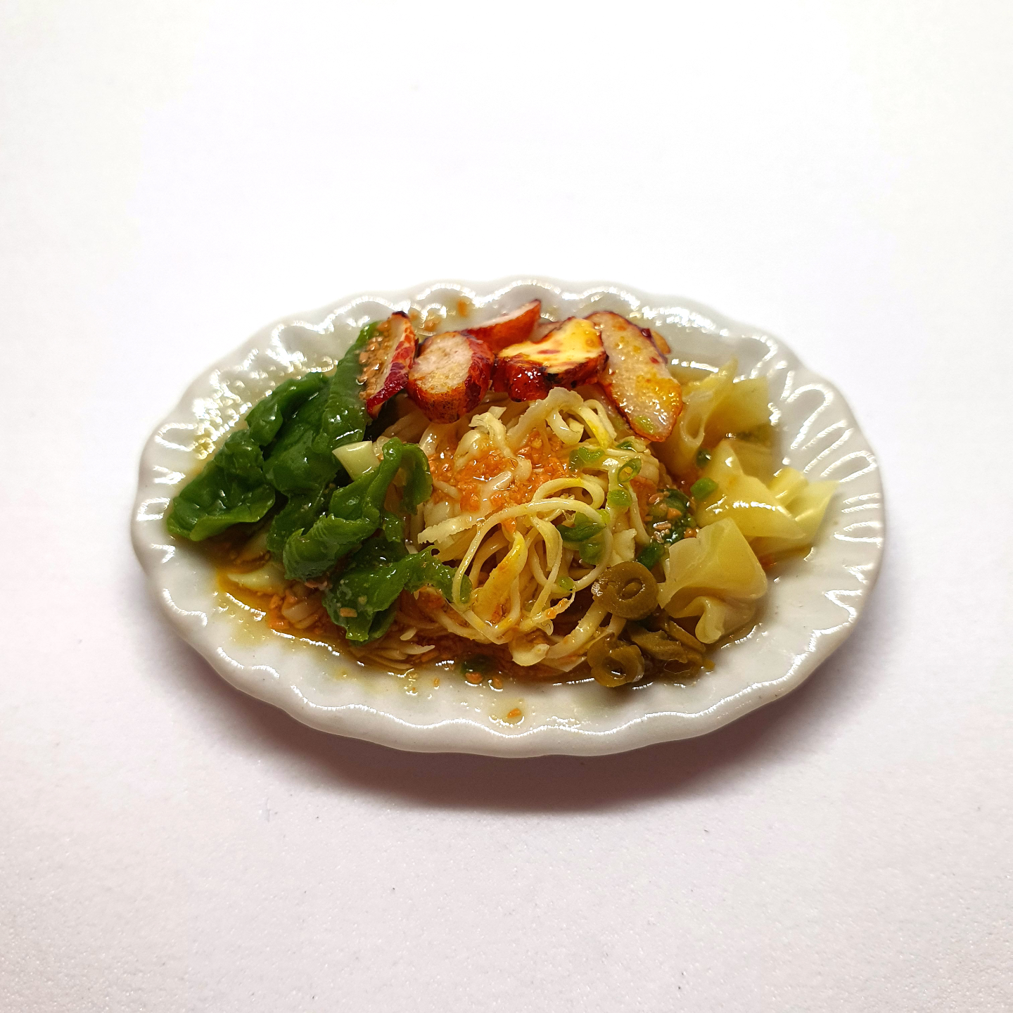Handmade Miniature: Wanton Noodles by Madam Ang Miniature World