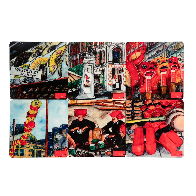 SOS 4 Chinatown Series Reg Coasters