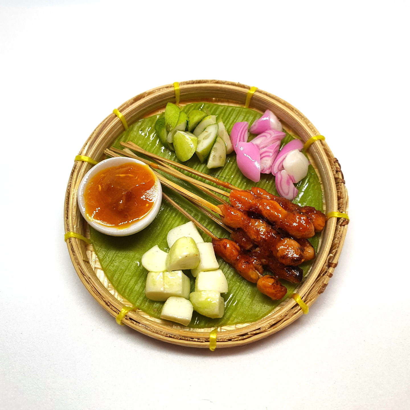 Handmade Miniature: Satay Tray (w/ magnet) by Madam Ang Miniature World