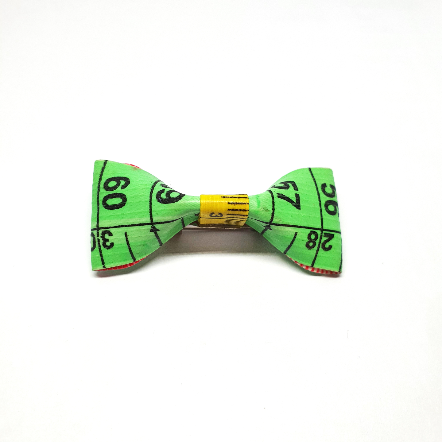 Handmade Accessories Measuring Tape Ribbon Brooches Green by Doe & Audrey