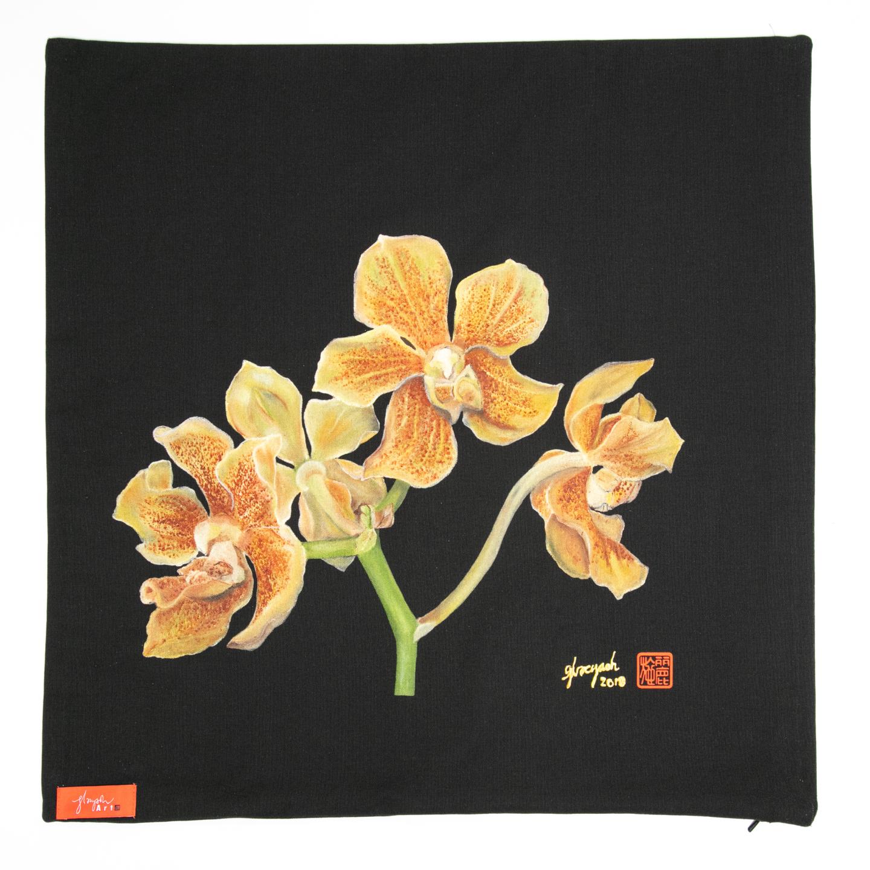 SOS 5 Orchids Cushion Cover - Paravanda Nelson Mandela