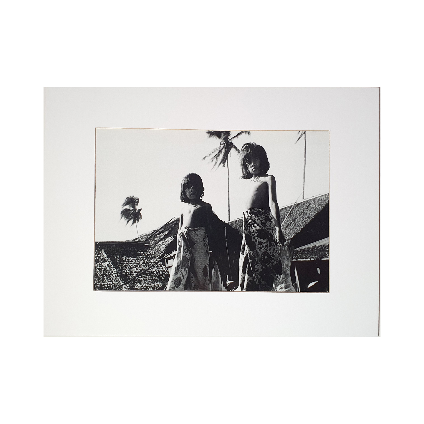 Photo Print: Two Kampung Girls by Yip Cheong Fun