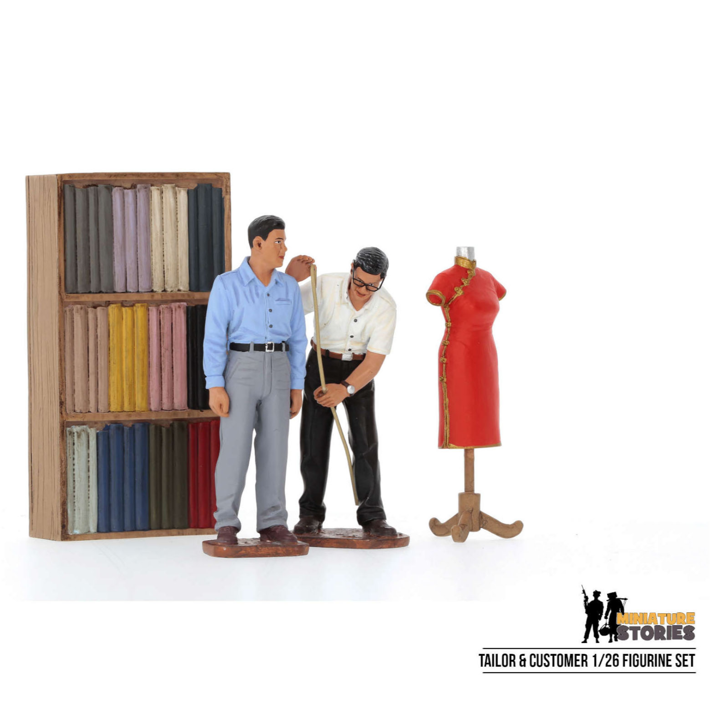 Tailor and Customer Figurine Set