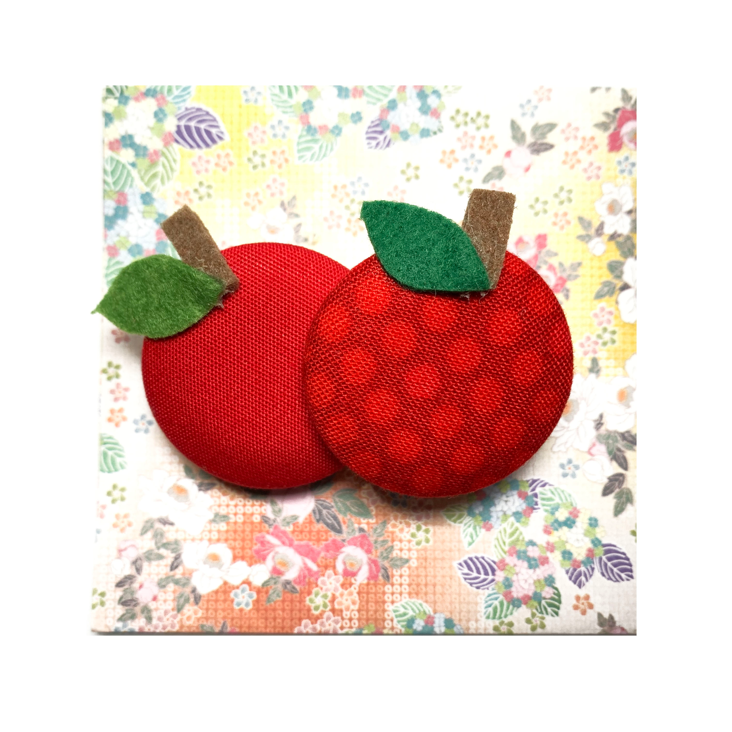 Handmade Brooch: Apple Brooch by Doe & Audrey
