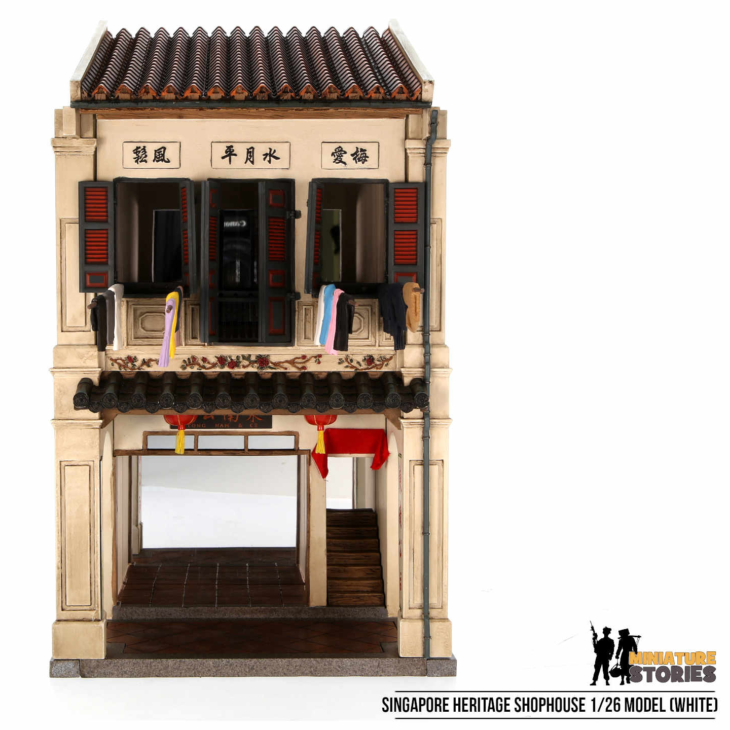 Singapore Heritage Shophouse Model - White