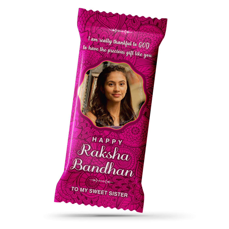 Raksha Bandhan Gift, Personalize Chocolate Bar 100g