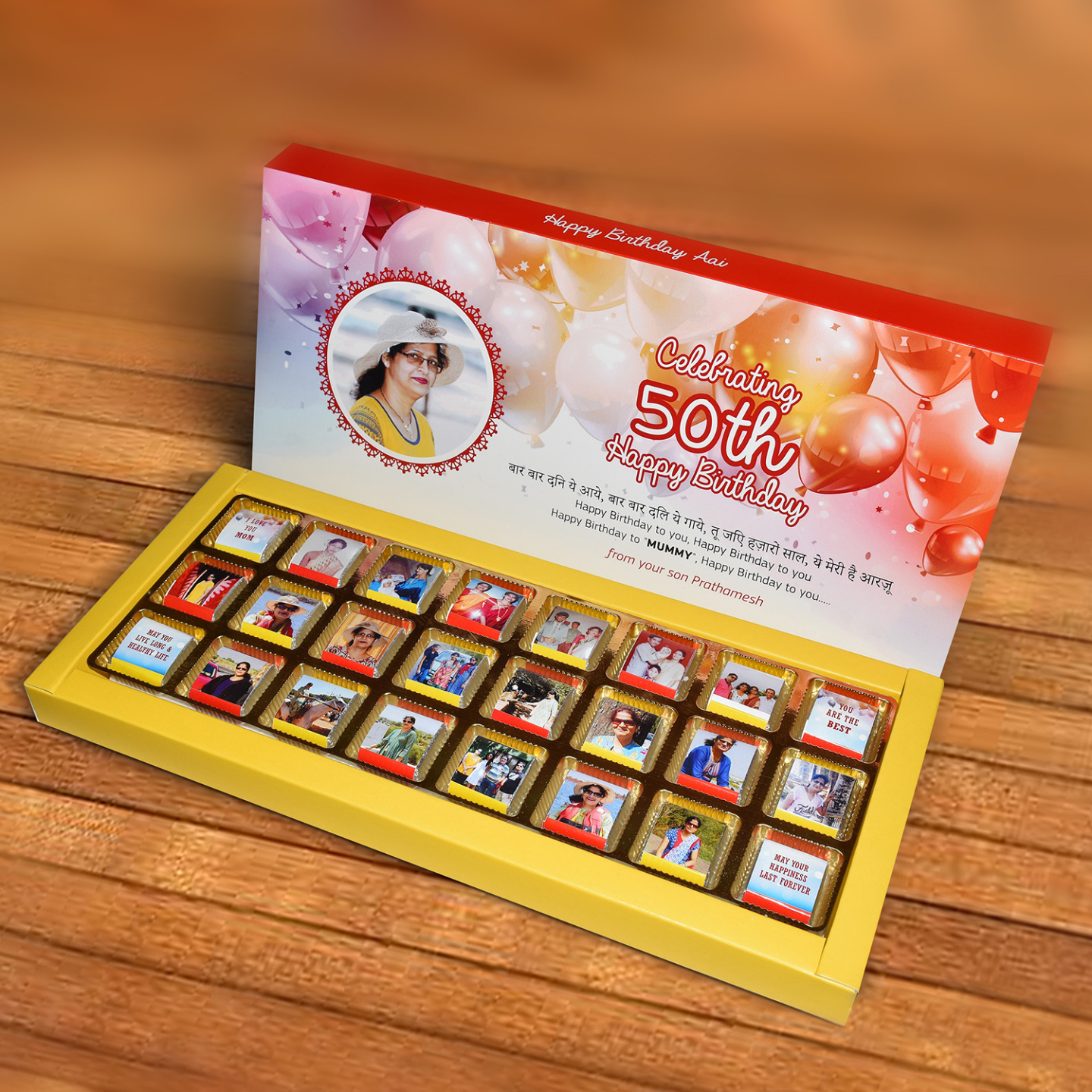 Birthday Gift, Personalized Chocolate Box