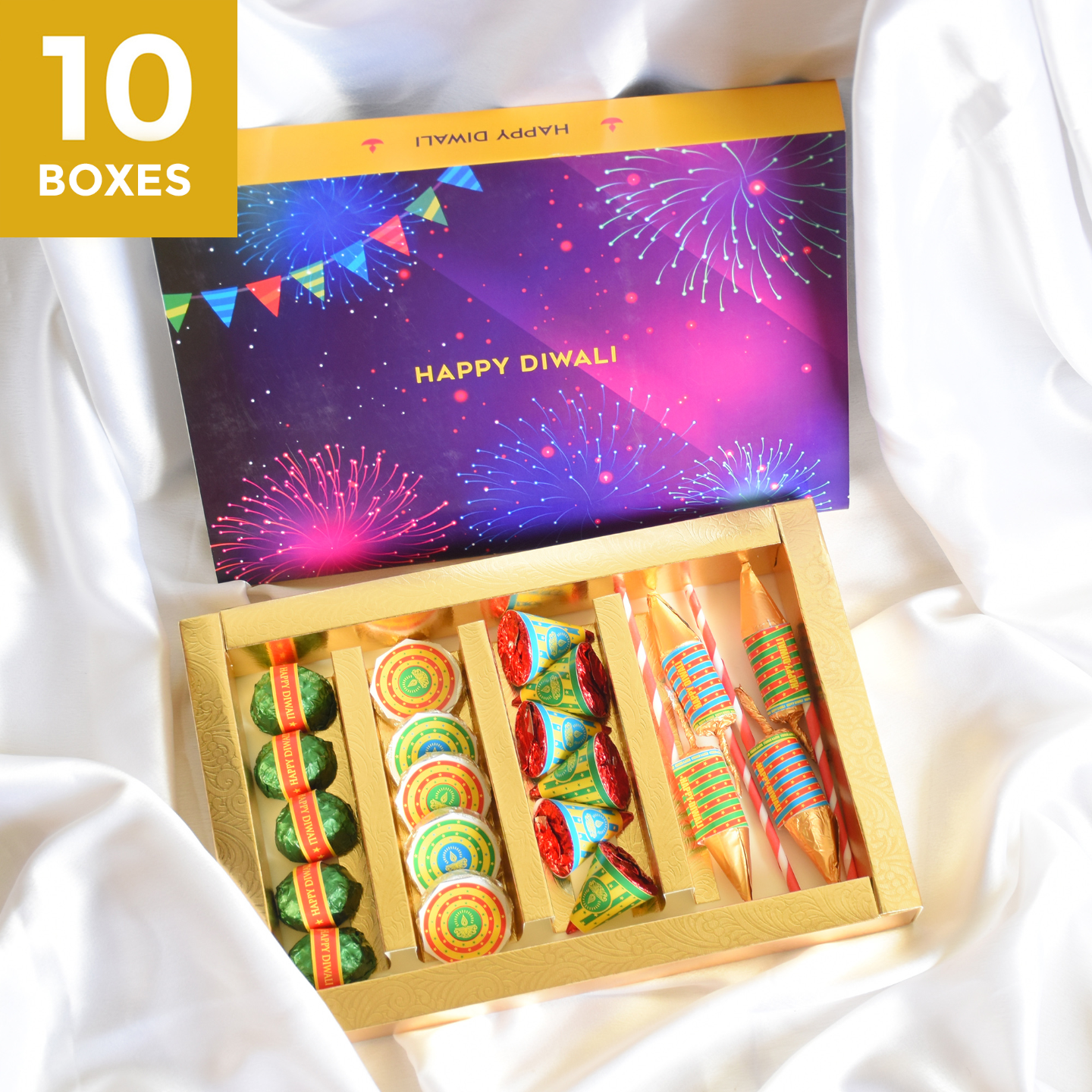 Diwali Phataka Gift Box, Persoanlized Assorted Chocolates