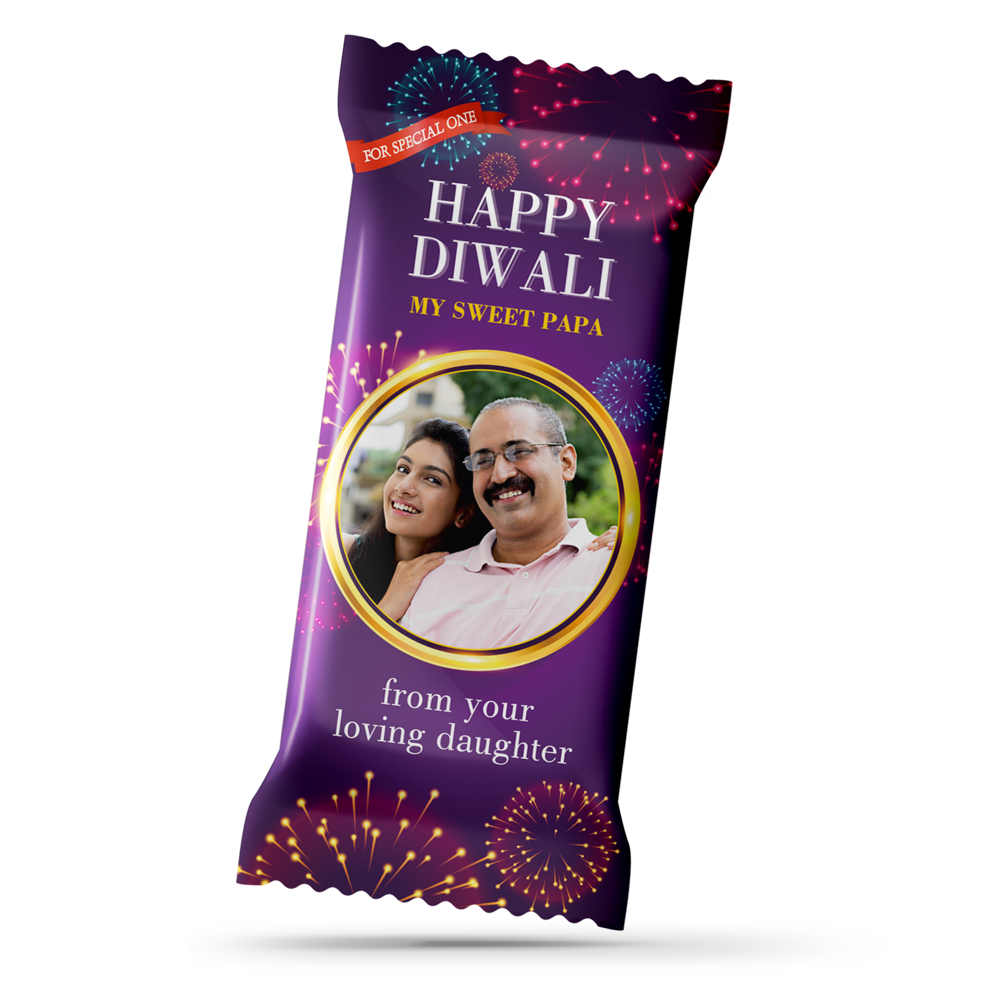 Diwali Gift, Personalize Chocolate Bar 100g
