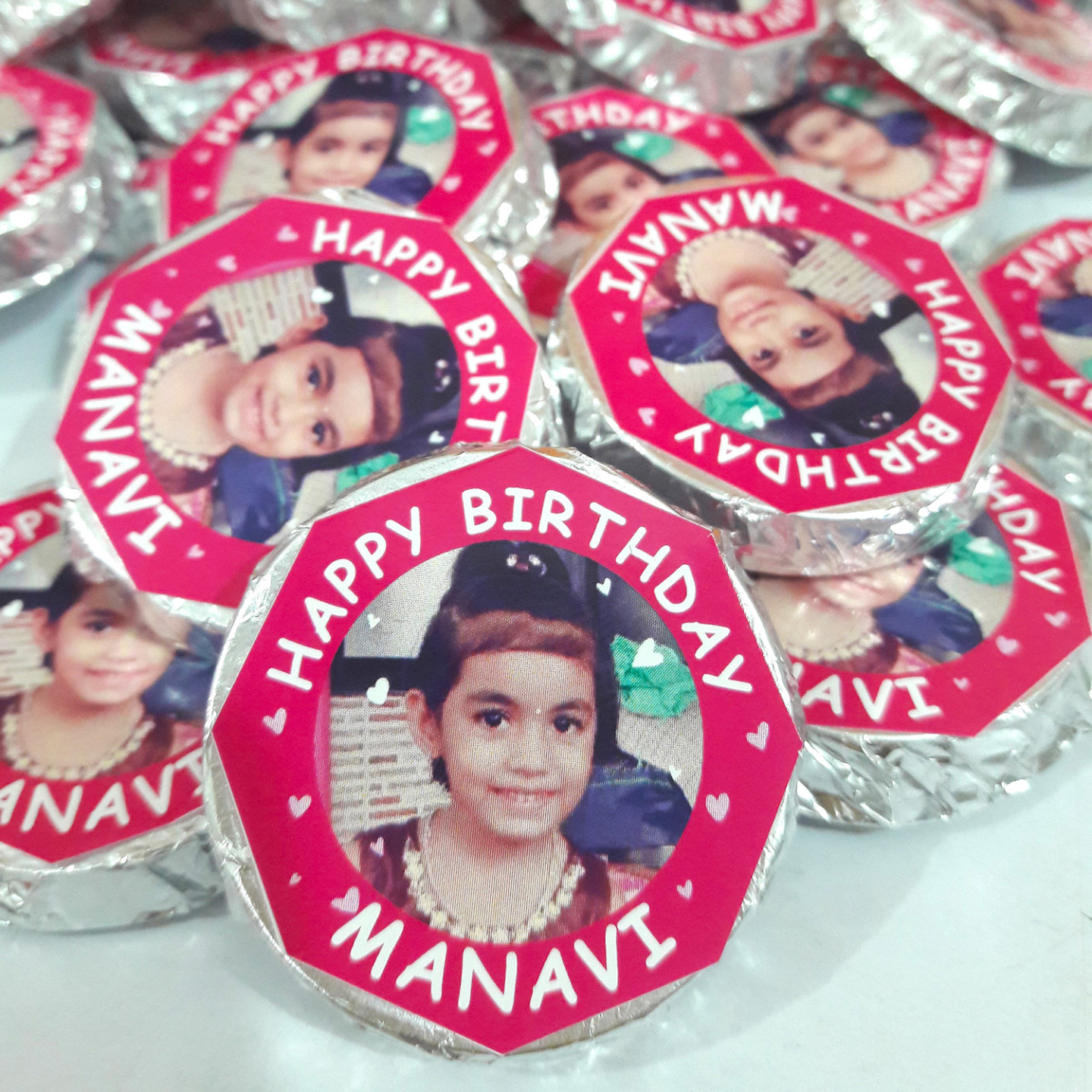 Birthday Return Gifts, Personalized Coin Chocolates - 30 pcs