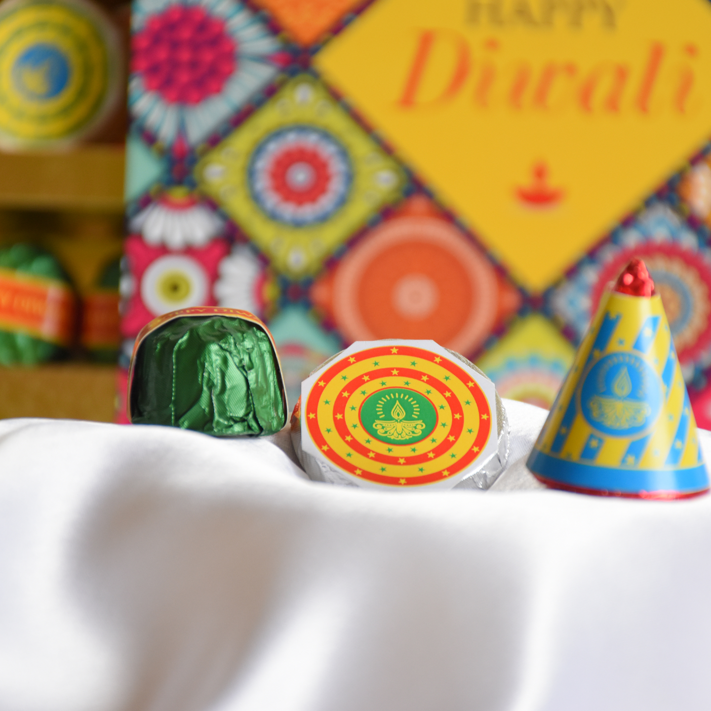 Diwali Phataka Gift Box, Assorted Chocolates
