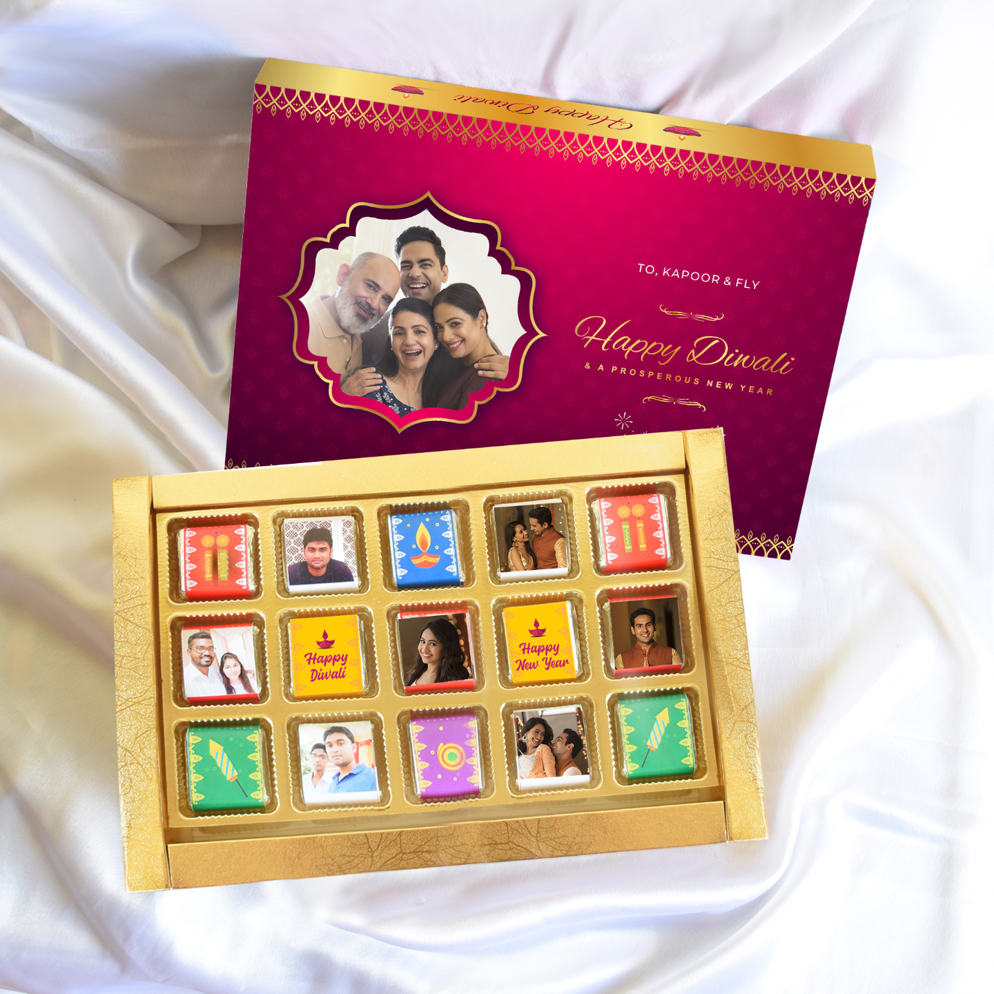 Diwali Personalized Gift Box, Assorted Chocolates