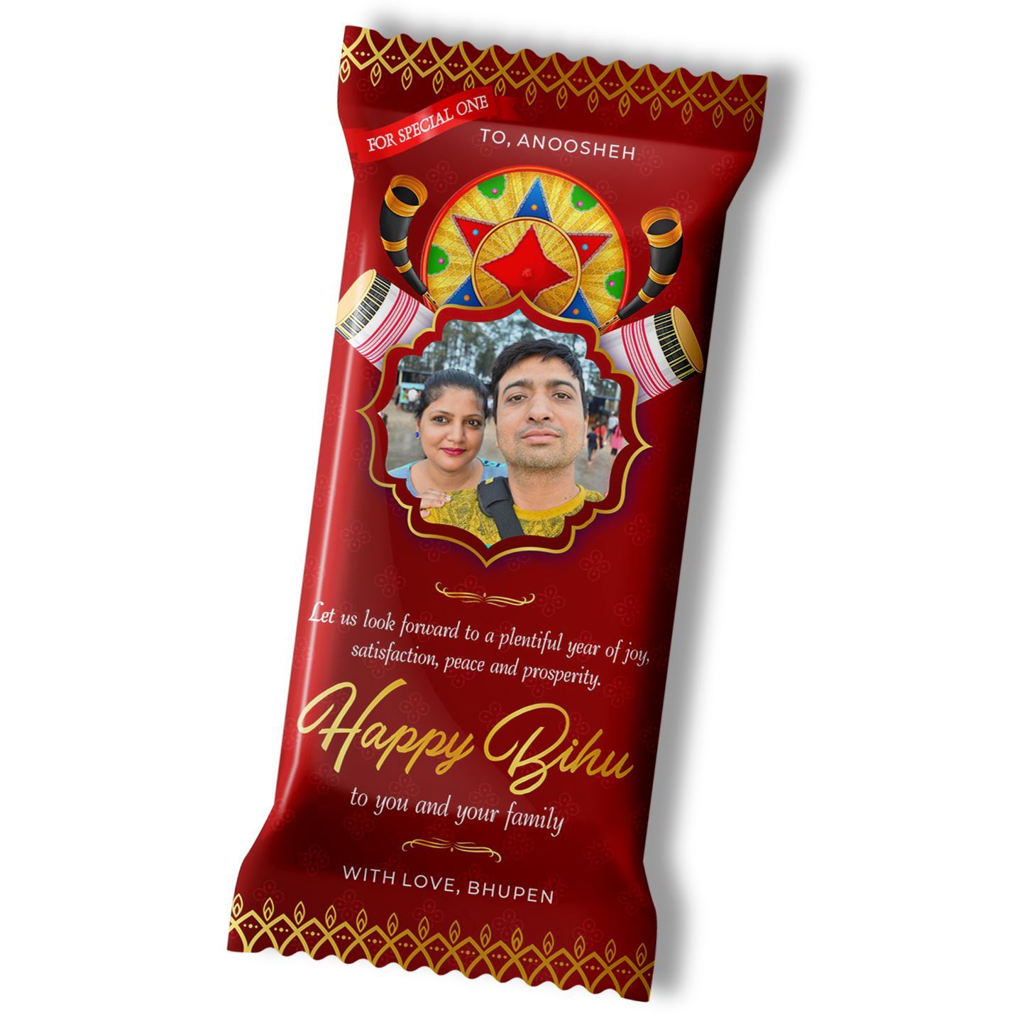 Bihu Gift, Personalize Chocolate Large Bar (100g)