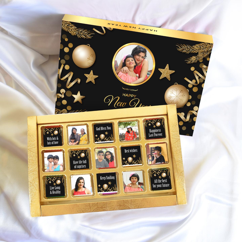 Christmas Personalized Gift Box, Assorted Chocolates 15 pcs