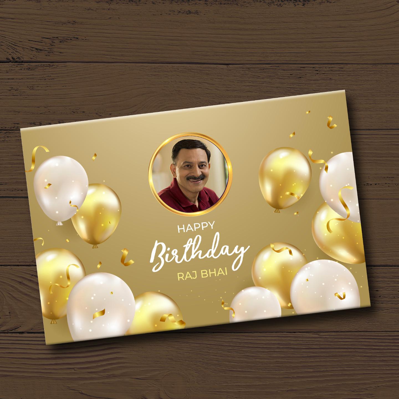 Birthday Gift, Personalized Chocolate Gold Box