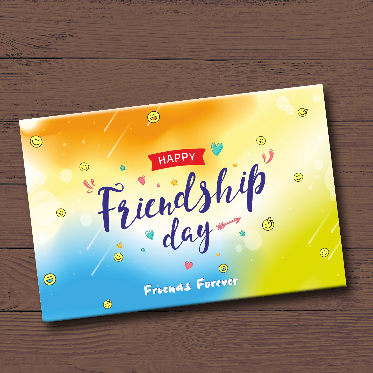 Friendship Day Gift Box, Personalized Assorted Chocolate 2 Bars + 9 Cubes