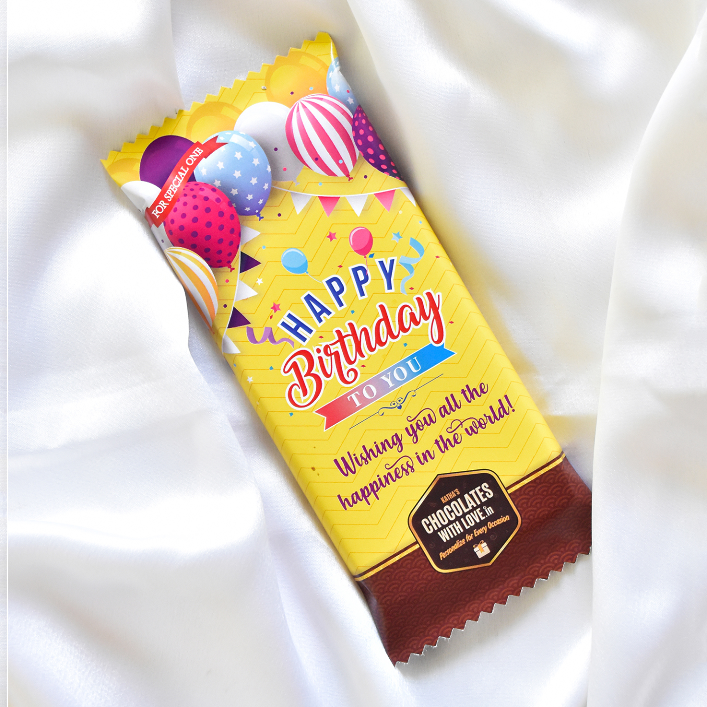 Birthday Chocolate Large Bar 100g