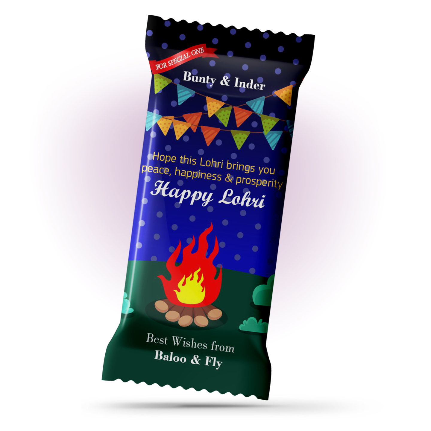 Lohri Gift, Personalize Chocolate Bar 100g