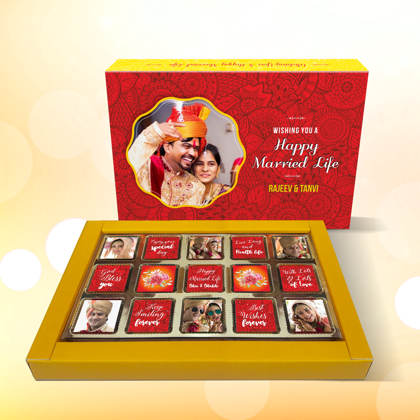 Wedding Personalized Gift Box, Assorted Chocolates
