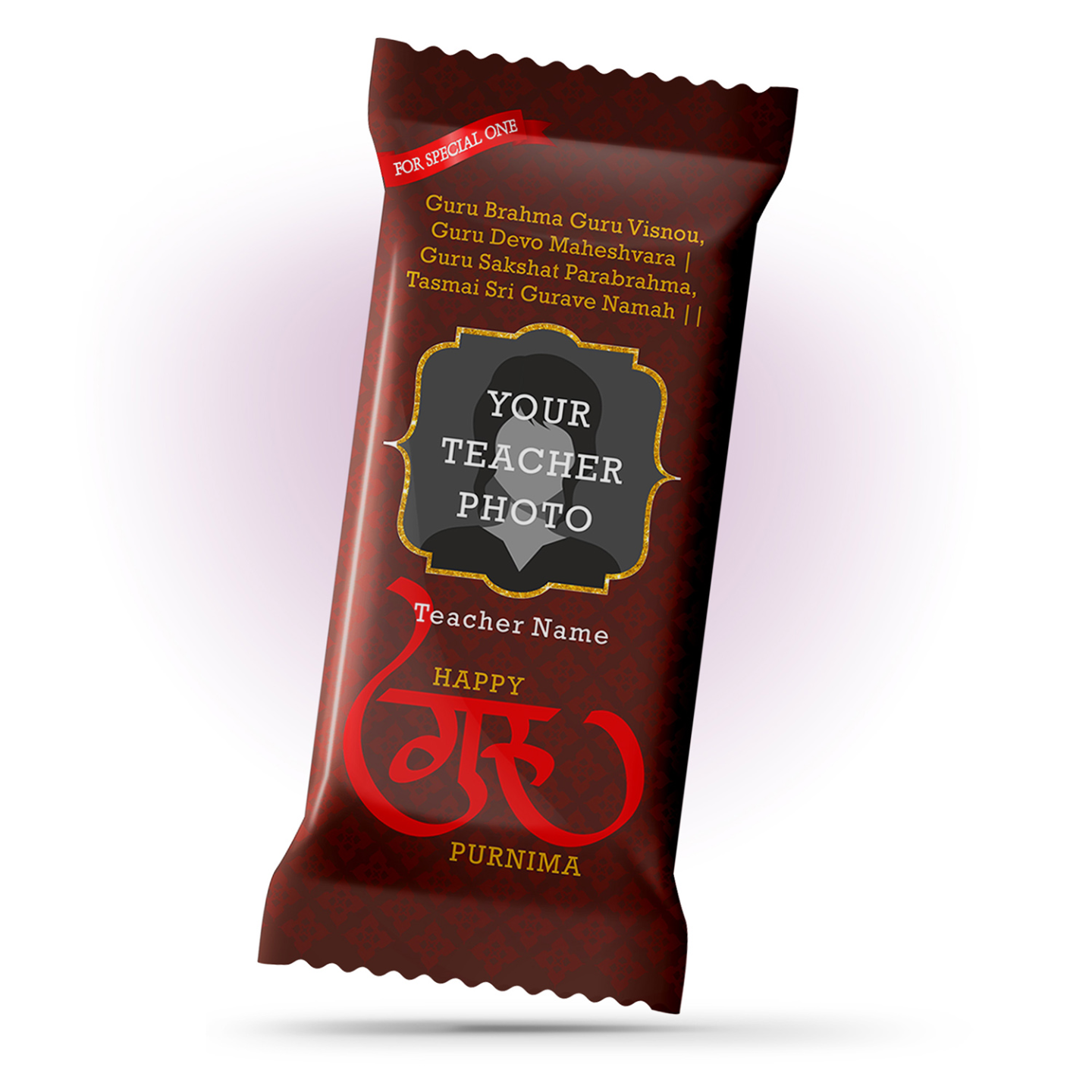 Guru Purnima Gift, Personalize Chocolate Large Bar 100g