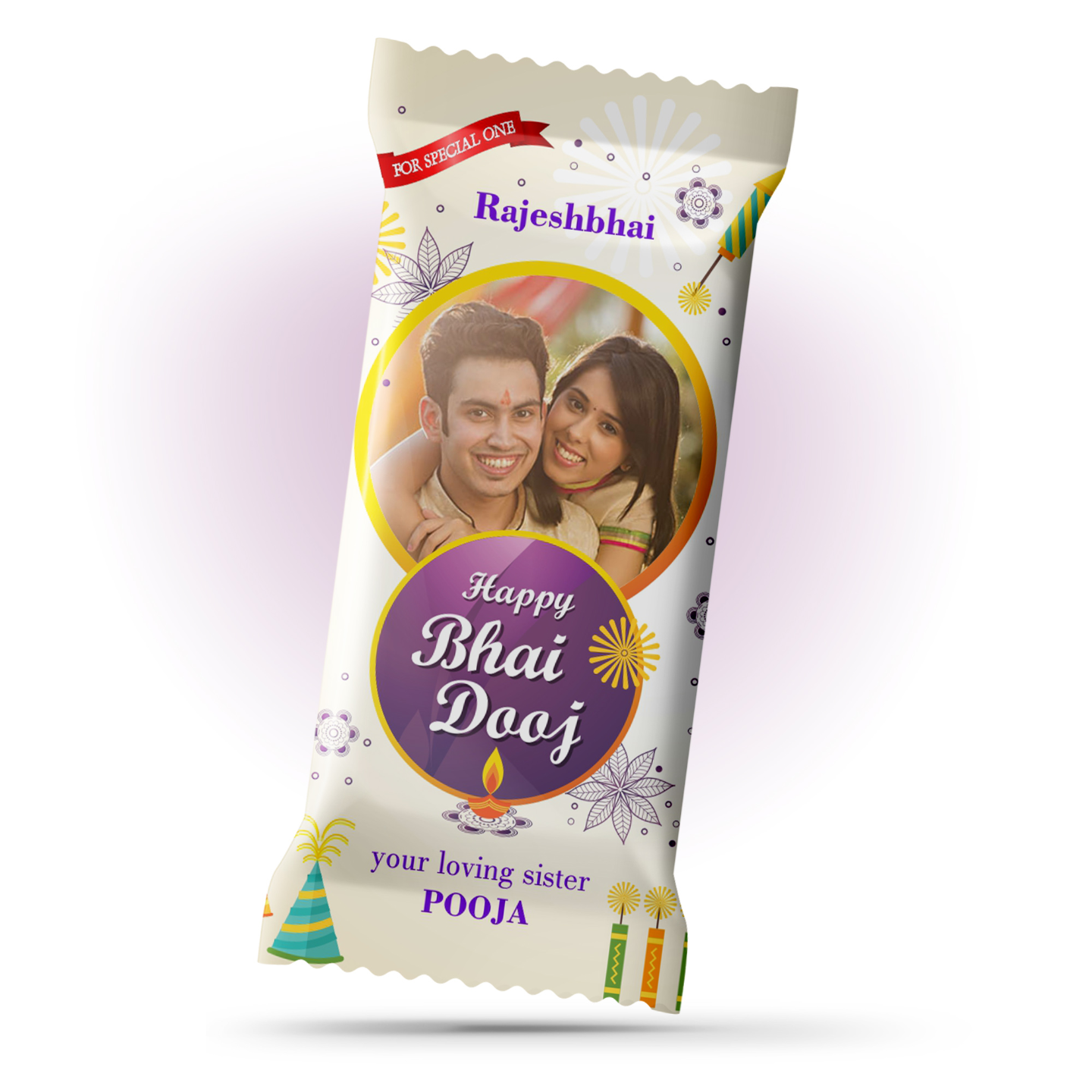 Bhai Dooj Gift, Personalize Chocolate Bar 100g