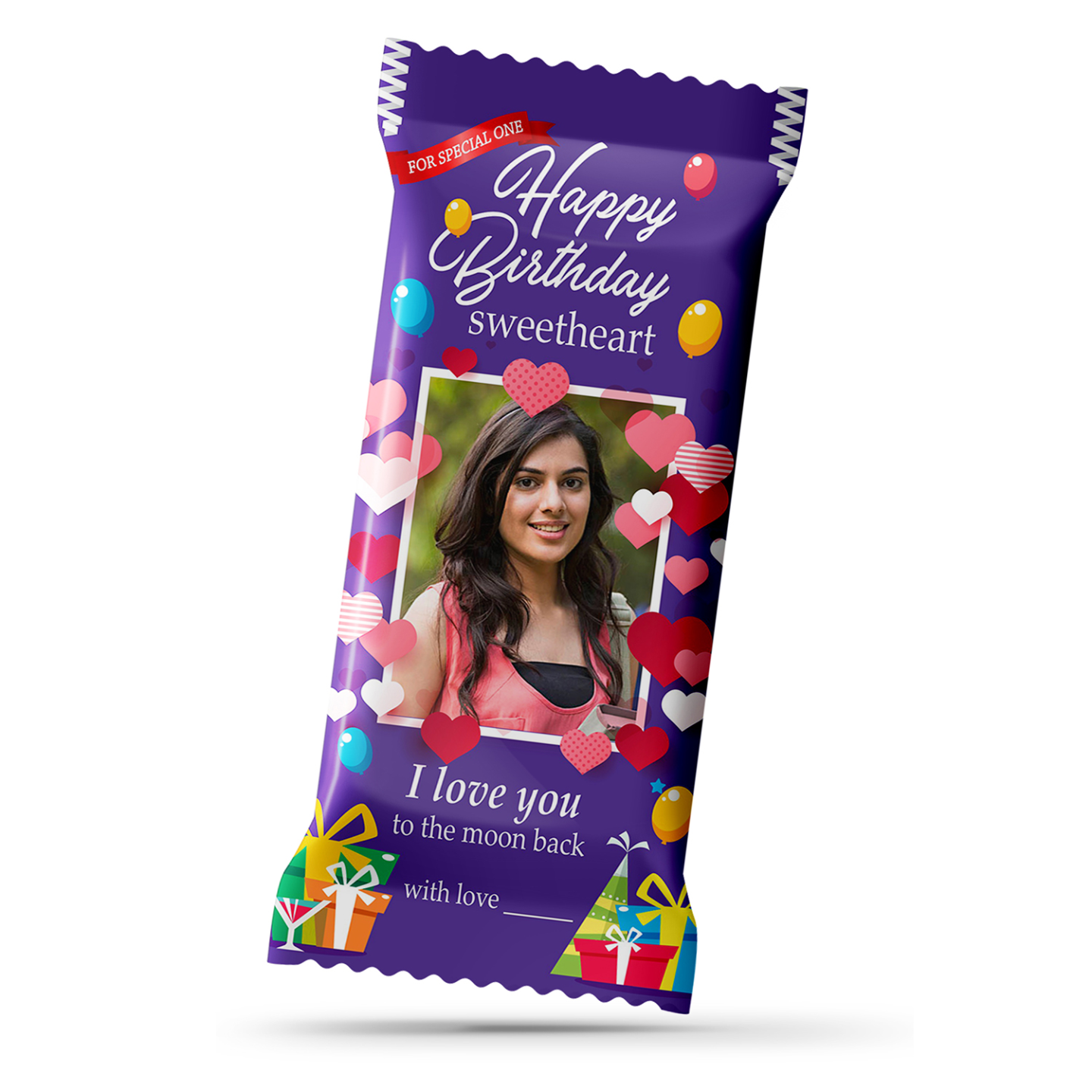 Birthday Gift, Personalize Chocolate Large Bar for your Love 100g