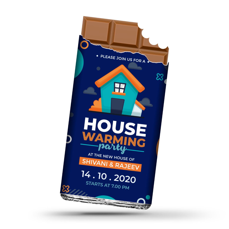 Grah Pravesh (House Warming) Gift, Personalize Chocolates -20 Bars