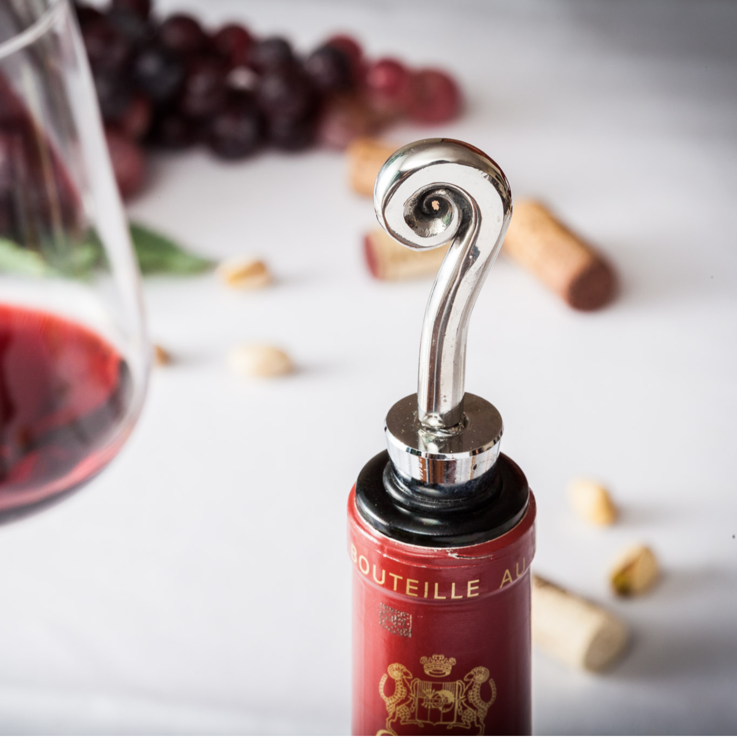 Wine Bottle Stopper - Stainless Steel