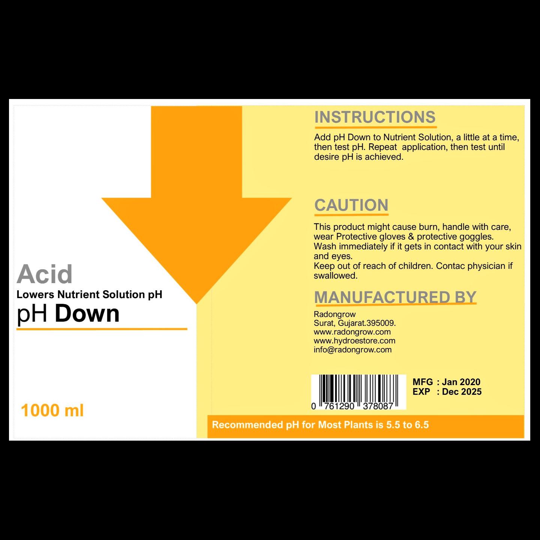 Radongrow pH Down 1000 ml