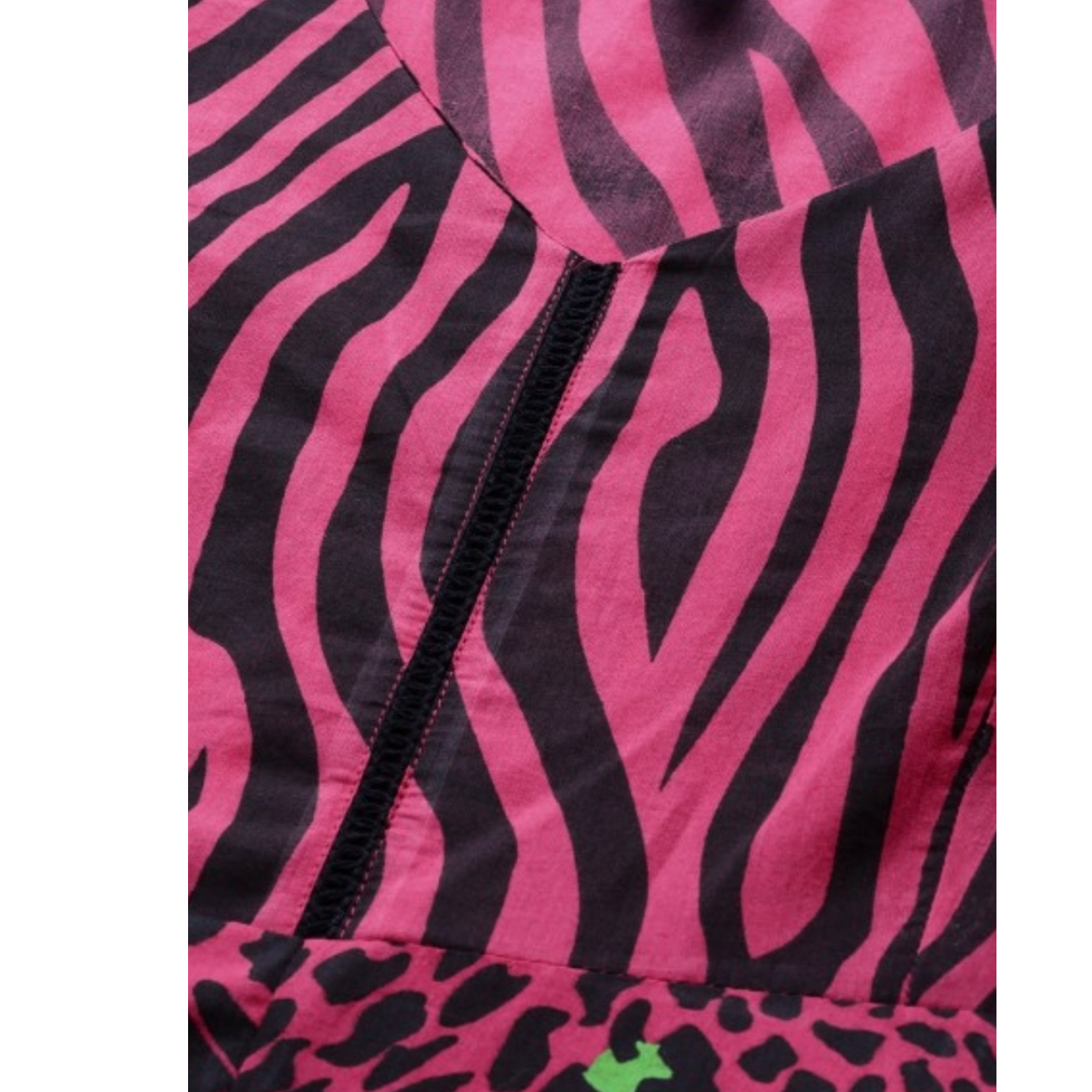 Pink & Black Animal Printed A-Line Dress