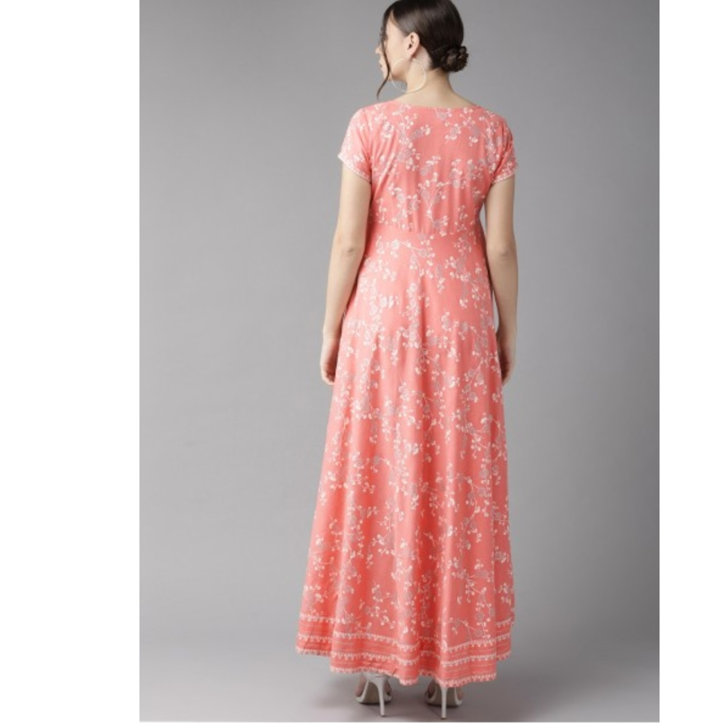 Pink & Off-White Khari Print Maxi Dress
