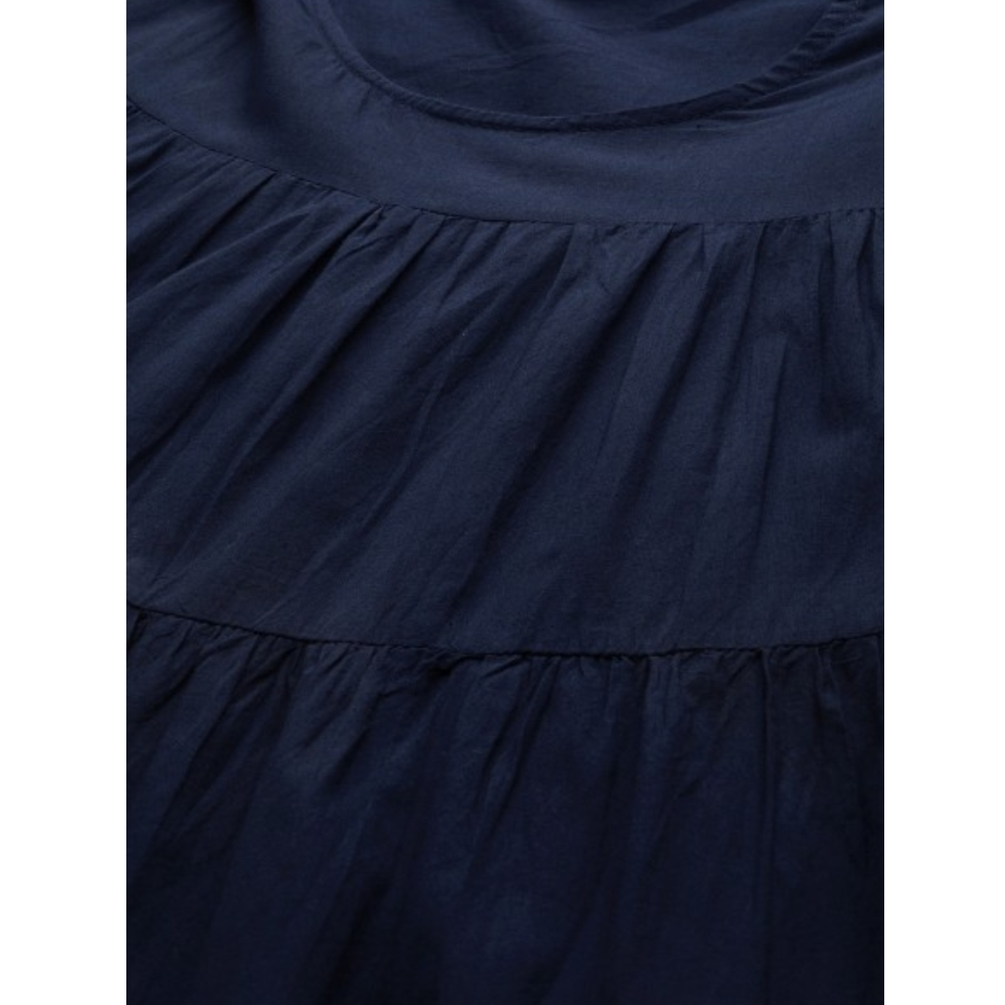 Navy Blue & Red Dyed Tiered Anarkali Kurta