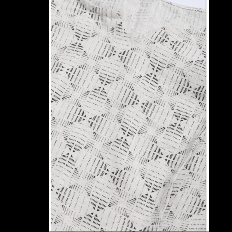 Off-White & Charcoal Grey Printed Kurta With Palazzos