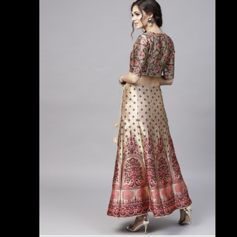 Multicolored Woven Design Lehenga With Choli