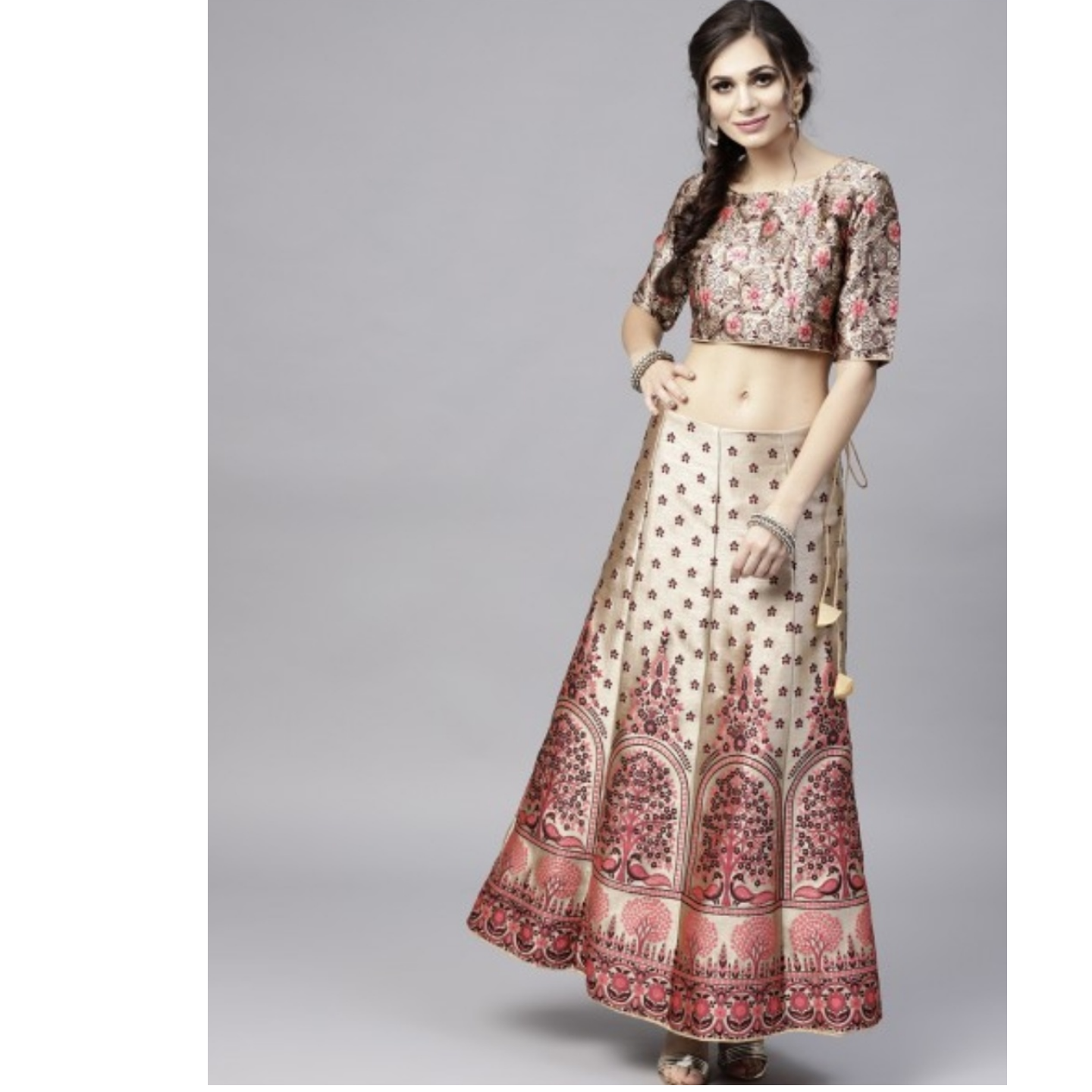 Multicolored Woven Design Lehenga With Choli